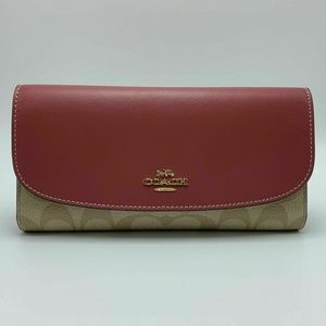 CHECKBOOK WALLET IN SIGNATURE CANVAS F57319